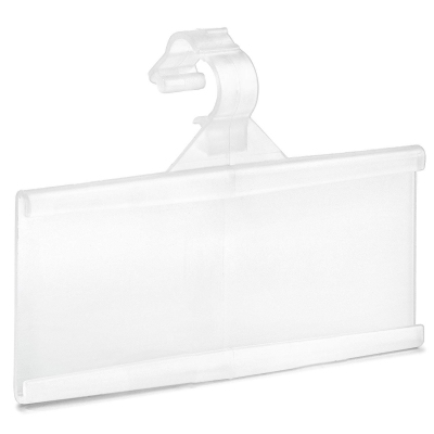 Supermarket stores PVC hanging plastic price tag label holder for wire shelf